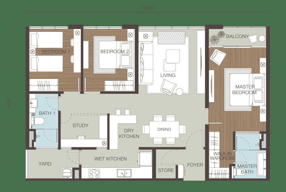 Floor Plan Type E